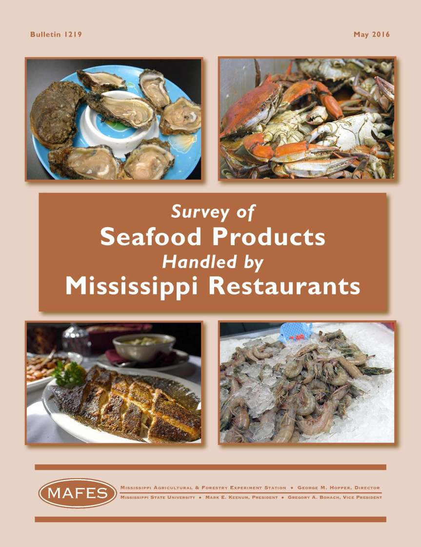 Survey of Seafood Products Handled by Mississippi Restaurants Front Cover